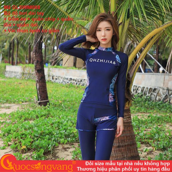 Nơi bán Bộ đồ bơi chống gió bộ đồ đi biển nữ dài 4 món GLSWIM068