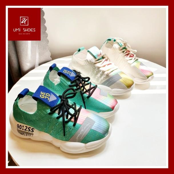 Giày thể thao nữ thời trang kiểu dáng Hàn Quốc GEJD 3 màu xanh trắng đen đế êm 3cm vải mềm thoáng chân giá rẻ