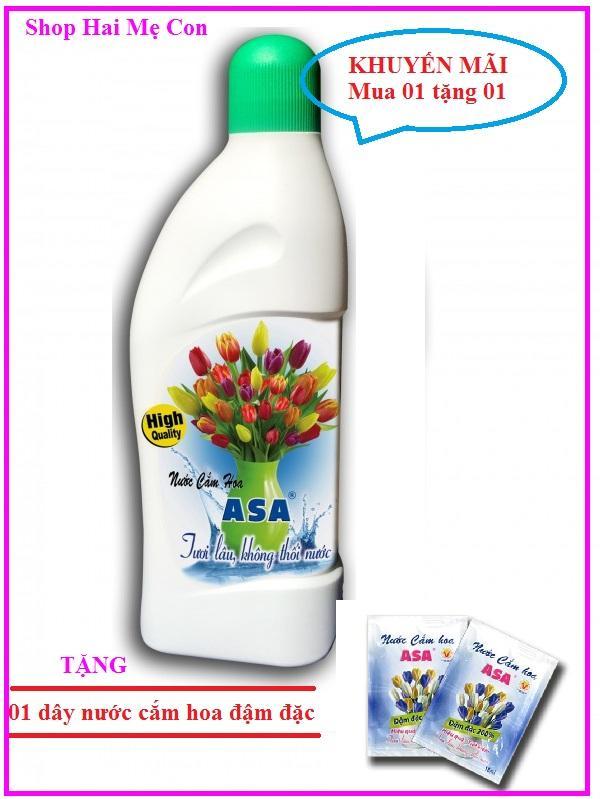 Nước cắm hoa giữ tươi lâu ASA 400ml Tặng 01 dây nước cắm hoa đậm đặc