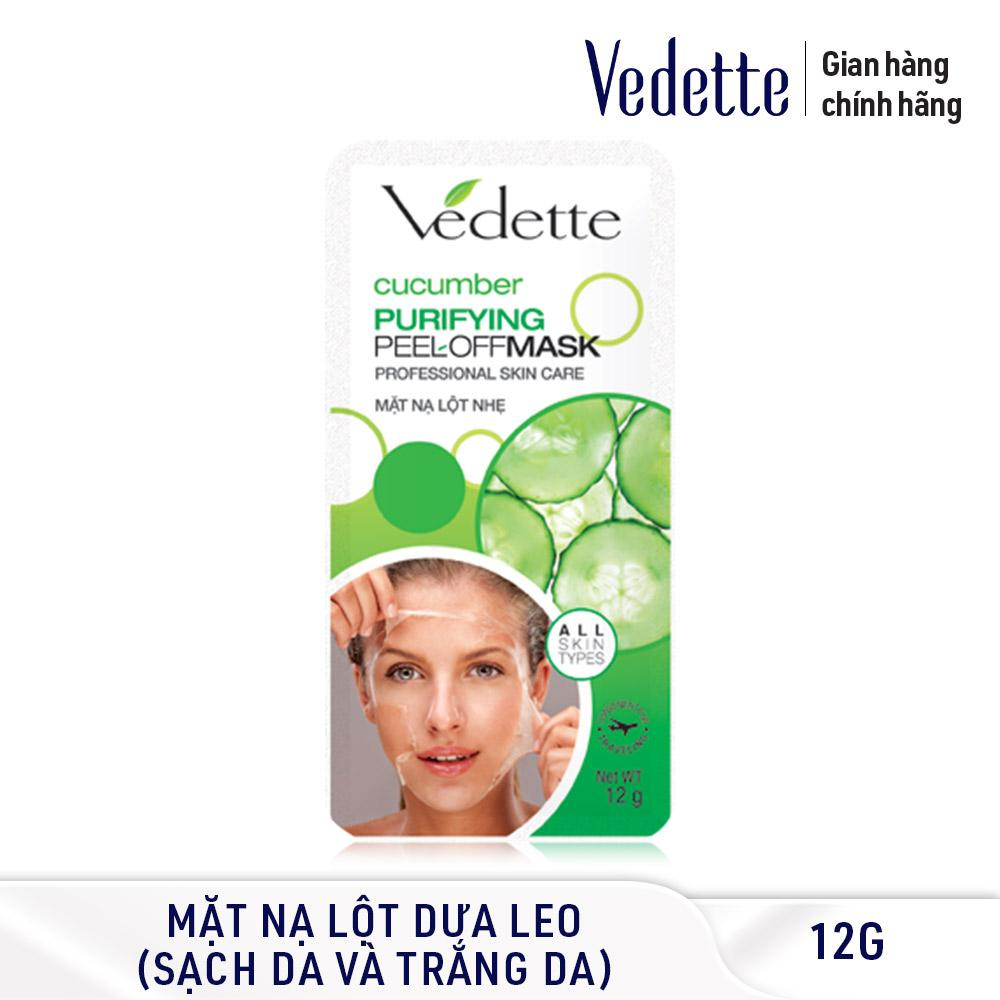Mặt nạ lột nhẹ dưa leo Vedette Purifying Peel-Off Mask Cucumber 12g