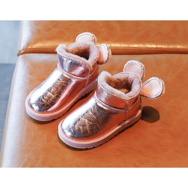 Giá bán Giày Lót Lông Đế Mềm Cho Bé, Boot Mickey Bé Gái GCC13