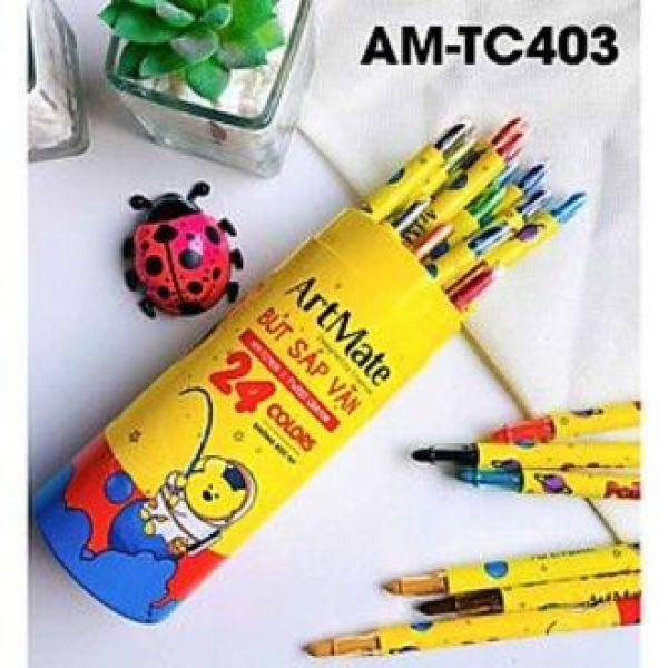 Mua Bút sáp vặn ống 24 màu AM-TC403