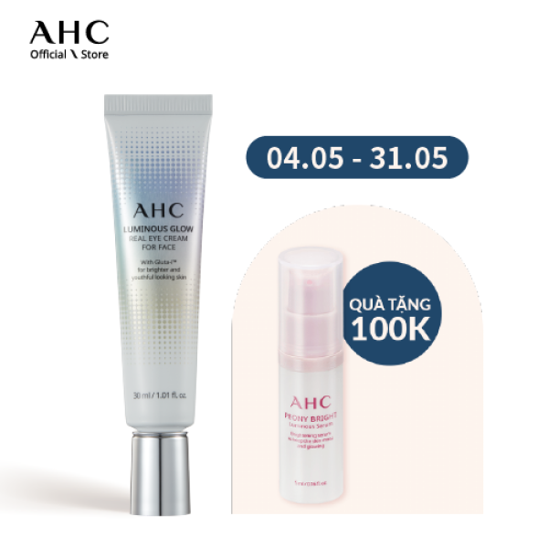 Kem dưỡng mắt AHC Luminous Glow Eye Cream for Face 30ml