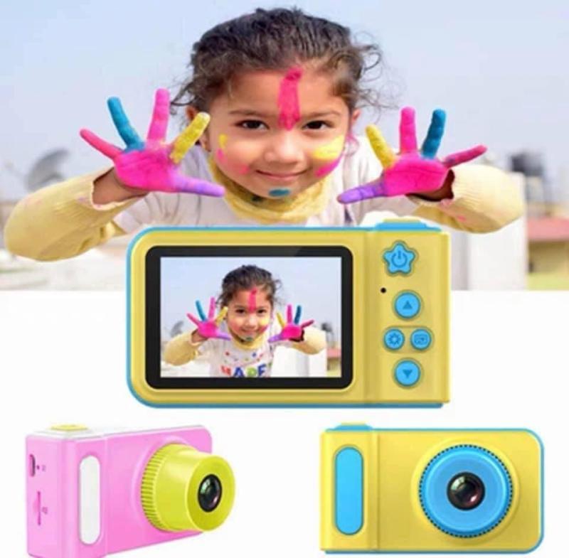 Máy ảnh kỹ thuật số dành cho bé trai và bé gái tự chụp những bức ảnh yêu thích, máy ảnh cho trẻ em có hỗ trợ thẻ nhớ - món quà thiết thực cho é, May anh ky thuat so danh cho be trai va be gai co ho tro the nho