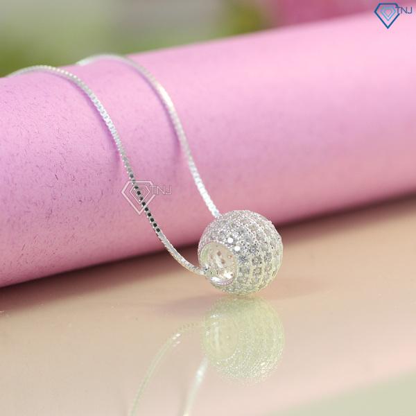 Dây chuyền bạc nữ giá rẻ đẹp đính đá trái châu DCN0346 - Trang Sức TNJ
