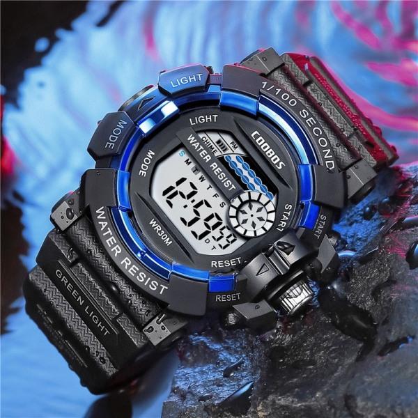 Nơi bán Đồng hồ trẻ em bơi 50m không thấm nước sinh viên thể thao điện tử đồng hồ chống nước LED dạ quang 0819