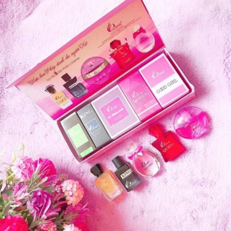 Set 5 mùi nước hoa Charme Mini 10ml nhập khẩu