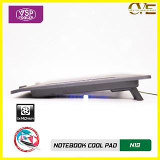 ĐẾ LAPTOP COOLER N19, thiết kế trên bề mặt có rãnh để gió dễ dàng thoát ra ngoài tốc độ quạt mạnh giúp tản nhiệt nhanh cho máy 7