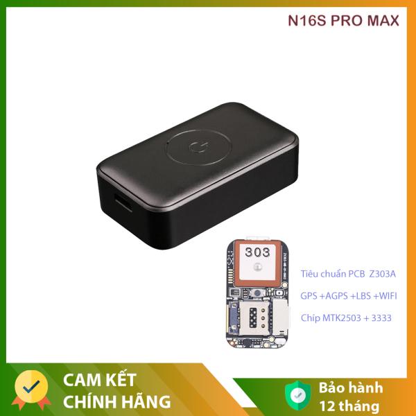 Định vị N16S PRO MAX  Cho oto, Xe máy, Xe điện chính xác tuyệt đối Hỗ trợ micro ghi âm pin trâu mini siêu nhỏ
