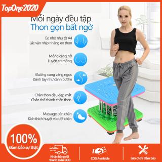 Máy vặn eo lắc hông loại 9 cột nam châm màu xanh lam dụng cụ thể thao tại nhà cho cả nam và nữ TopOne2020 thumbnail