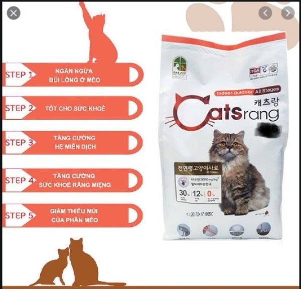Thức ăn hạt cho Mèo mọi lứa tuổi. CatsRang- Bao 5kg. Sản Phẩm Korea.