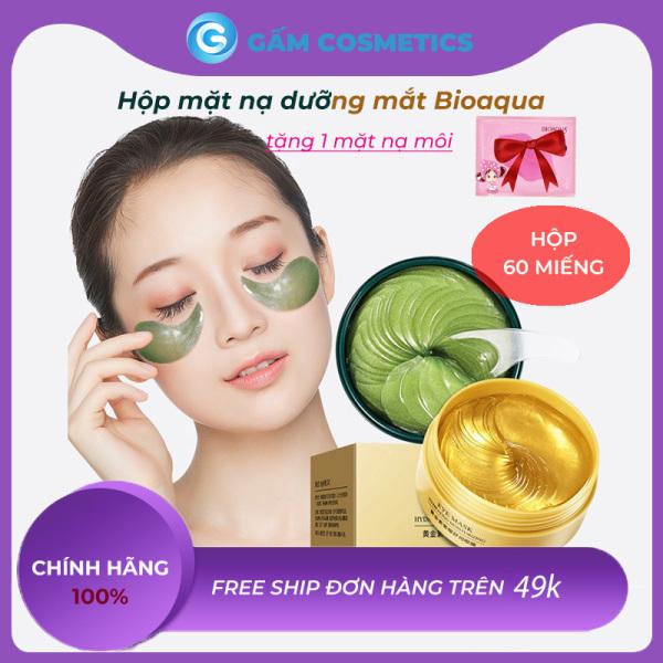 [Hộp 60 Miếng] Mặt nạ mắt Bioaqua Collagen tảo biển chính hãng mờ quầng thâm bọng mắt hàng nội địa Trung - Gấm Cosmetics