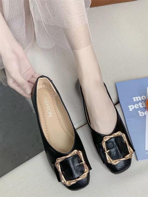 Giày búp bê , giày bệt nữ khóa vuông da mềm êm chân siêu xinh giá rẻ