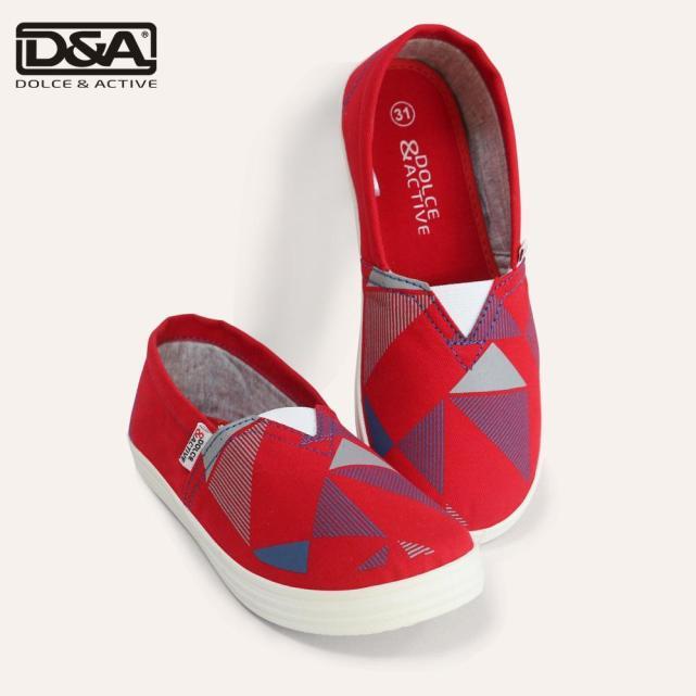 Giày slipon trẻ em D&A EP G1945 Đỏ giá rẻ