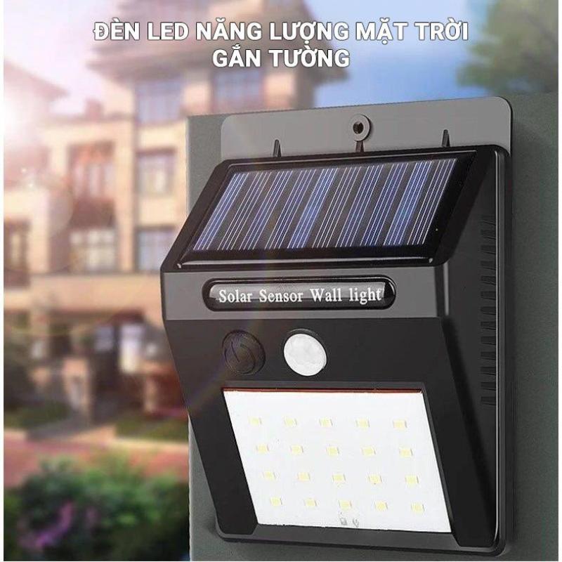 Đèn năng lượng mặt trời cảm biến hồng ngoại 30 led - 3 chế độ, đèn Led cảm ứng ngoài trời, đèn Led gắn tường, Đèn cảm ứng