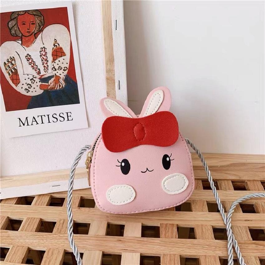 Giá bán [Tết Tết] Túi đeo cho bé , bóp cho bé diện Tết mẫu thỏ hồng xinh xắn đáng yêu