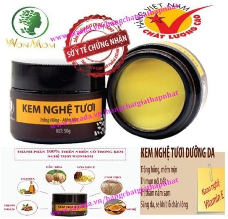 Kem nghệ tươi hữu cơ dưỡng da mẹ sau sinh 50g - Wonmom (Việt Nam)