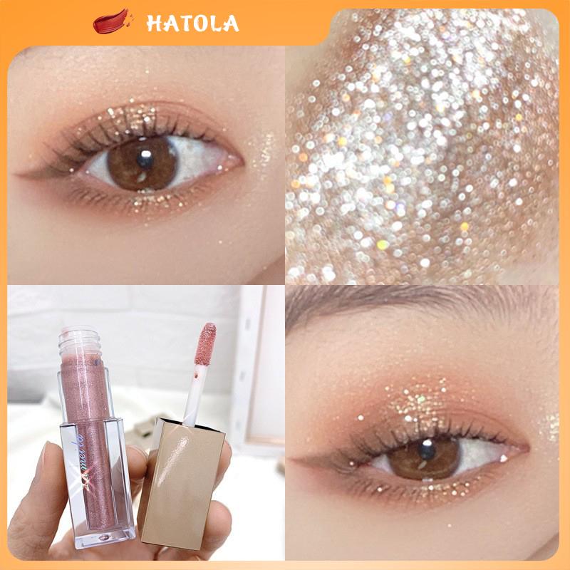 HATOLA - Nhũ mắt màu ánh kim tuyến tuyệt đẹp Lameila Liquid Eye Shadow, Phấn nhũ viền mắt tạo hiệu ứng trang điểm hàng nội địa Trung PN-MAT
