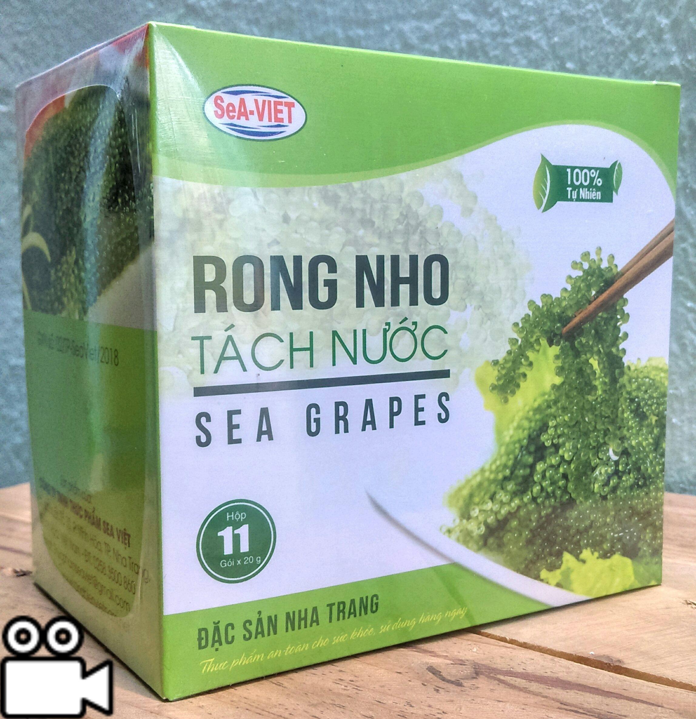 Chương Trình Ưu Đãi cho Rong Nho Tách Nước Sea Việt (Hộp 220g 11 Gói)