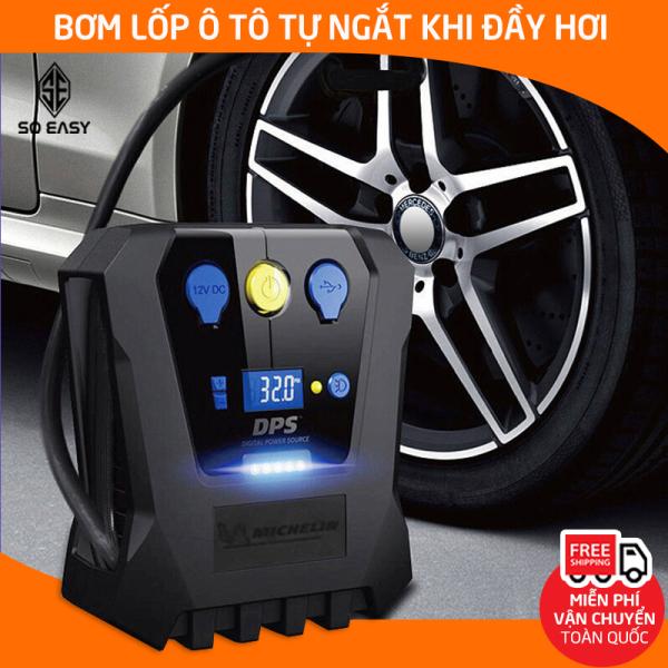 [HCM][Bảo hành 12 tháng] Máy bơm bánh xe tự ngắt Michelin 4398ML 12266 máy bơm lốp xe hơi tự động máy bơm tự lốp ô tô 12V model 2020 thích hợp bơm xe máy ô tô SUV MC-12266