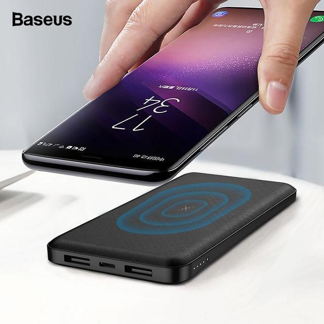 Pin dự phòng không dây - Sạc không dây đa năng Baseus M36 siêu đẹp thông minh chuẩn Qi kiêm pin dự phòng 10000 mAh cho Iphone 8, iphone X, iphone Xs Max, Samsung Galaxy S9, Note8, Note 9