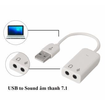 Giá Cáp Chuyển Đổi USB Ra Âm Thanh 7.1 Màu Trắng Loại Tốt