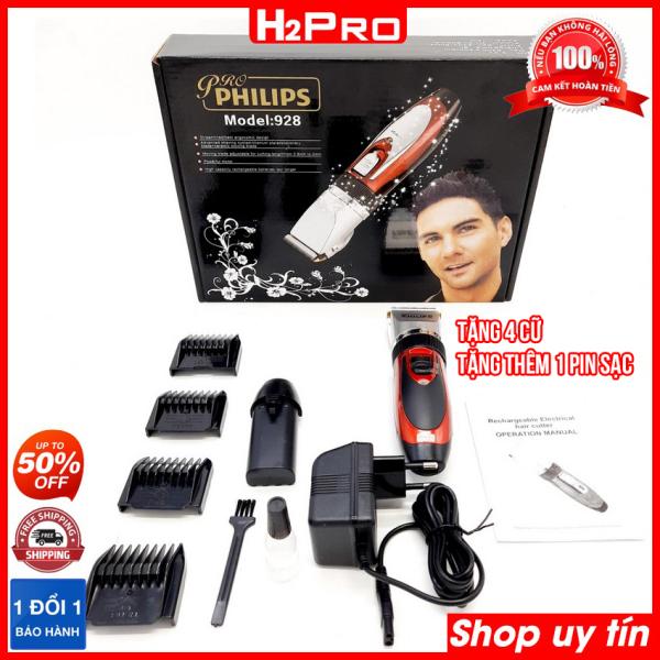 Tông đơ cắt tóc Philips 928 PRO pin sạc, cắt êm, bén - Tông đơ philips cho bé ( tặng 4 cữ )