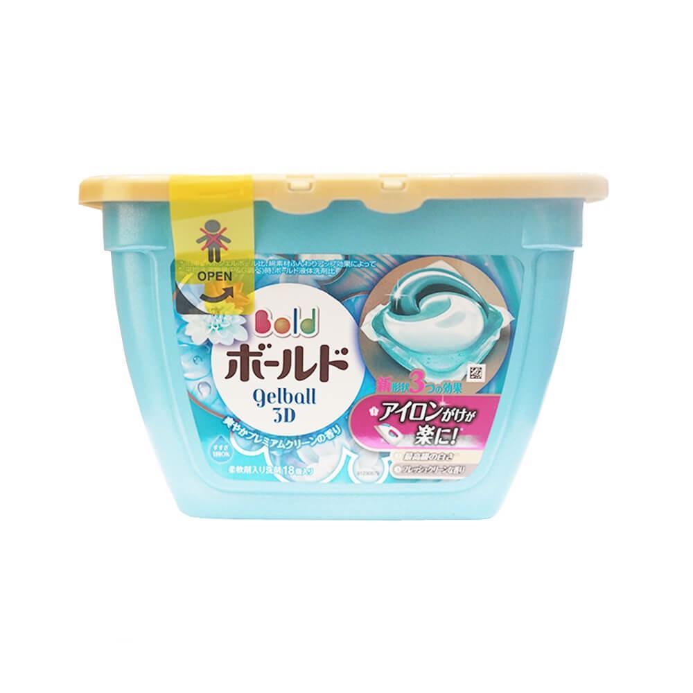 Hộp 18 Viên Giặt Xả Ariel 3D (Màu Xanh Ngọc) Nội địa Nhật Bản - JStore Giá Sốc Nên Mua