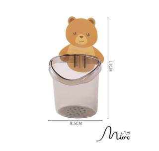 Cốc gấu nâu đựng bàn chải dán tường trong nhà tắm 2 màu 9.5cm 17cm thumbnail