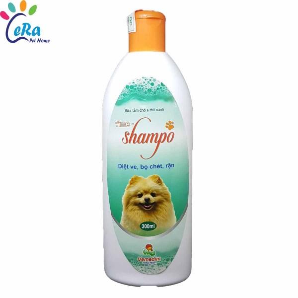 Sữa Tắm Thơm, Diệt Bọ Chét, Mềm Lông An Toàn Hiệu Quả Cho Chó Mèo - Vime Shampo