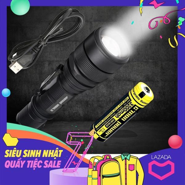 Bảng giá Bộ 1 đèn pin Cmon Power RANGER L2 LED 10W + 1 pin sạc dung lượng cao 3200mah + 1 cáp sạc USB (VÀNG)