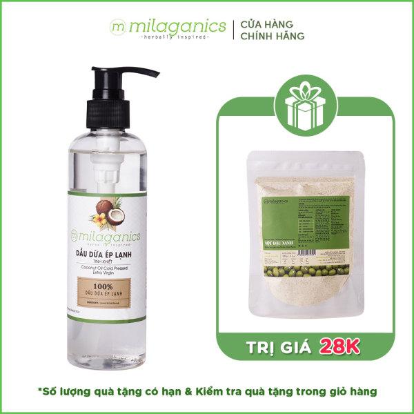 Dầu dừa ép lạnh tinh khiết 3 dưỡng da - tóc môi MILAGANICS 250ml
