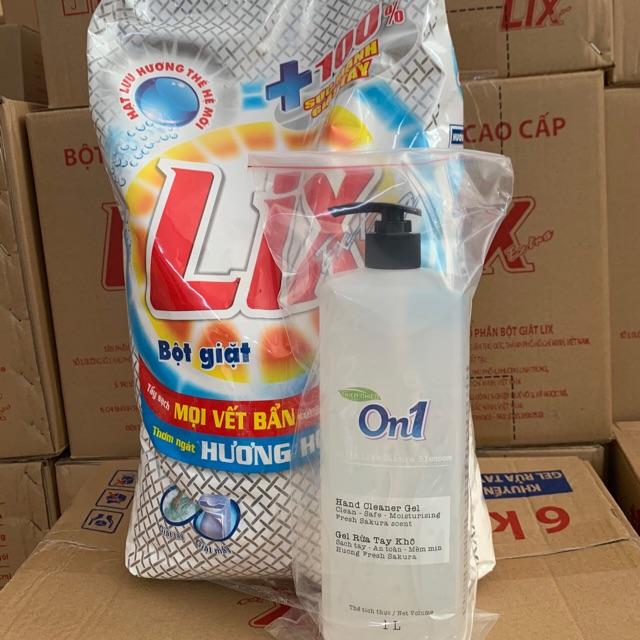 Bột Giặt Lix Extra 6kg - Tặng Thêm Cho Khách Hàng 01 Chai Gel Rửa Tay Khô 1000ml Có Vòi Xịt Giá Siêu Cạnh Tranh