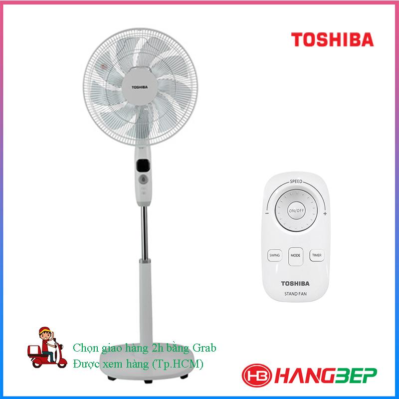 Quạt đứng có remote Toshiba F-LSD10(H)VN - Xám/Trắng