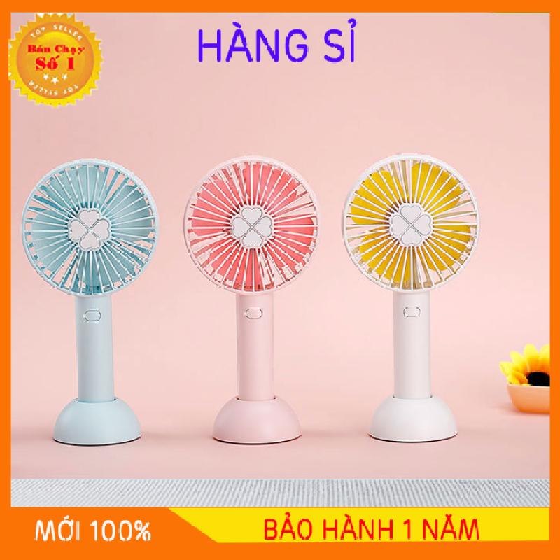 Quạt Mini Fan Có Pin Sạc Cầm Tay Tuỳ Chỉnh 3 Cấp Độ Siêu Mát Hàn Quốc - Đế Quạt Mới Có Chổ Đặt Điện Thoại