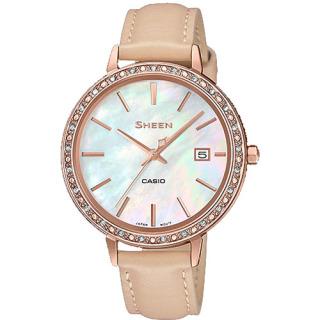 Đồng hồ nữ Casio SHEEN SHE-4052PGL-7B Dây da cao cấp, mặt khảm trai mới lạ sang trọng thumbnail
