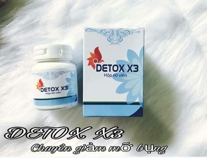 GIẢM CÂN, GIẢM MỠ BỤNG DETOX X3