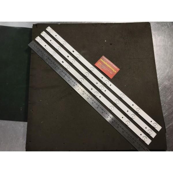 Bảng giá Bộ 3 thanh 8 Led 3V cho tivi Asanzo 32 inch và các Panel tương tự