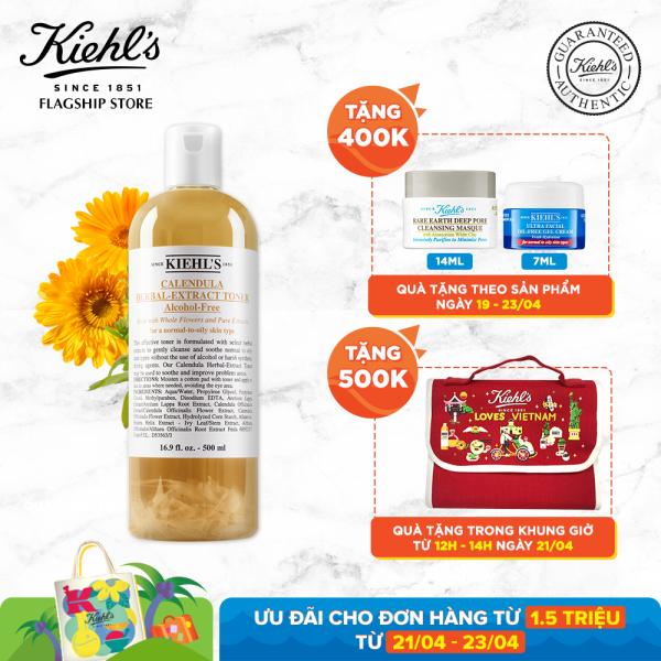 Nước cân bằng Hoa Cúc Kiehls Calendula Herbal Extract Alcohol-Free Toner 500ml