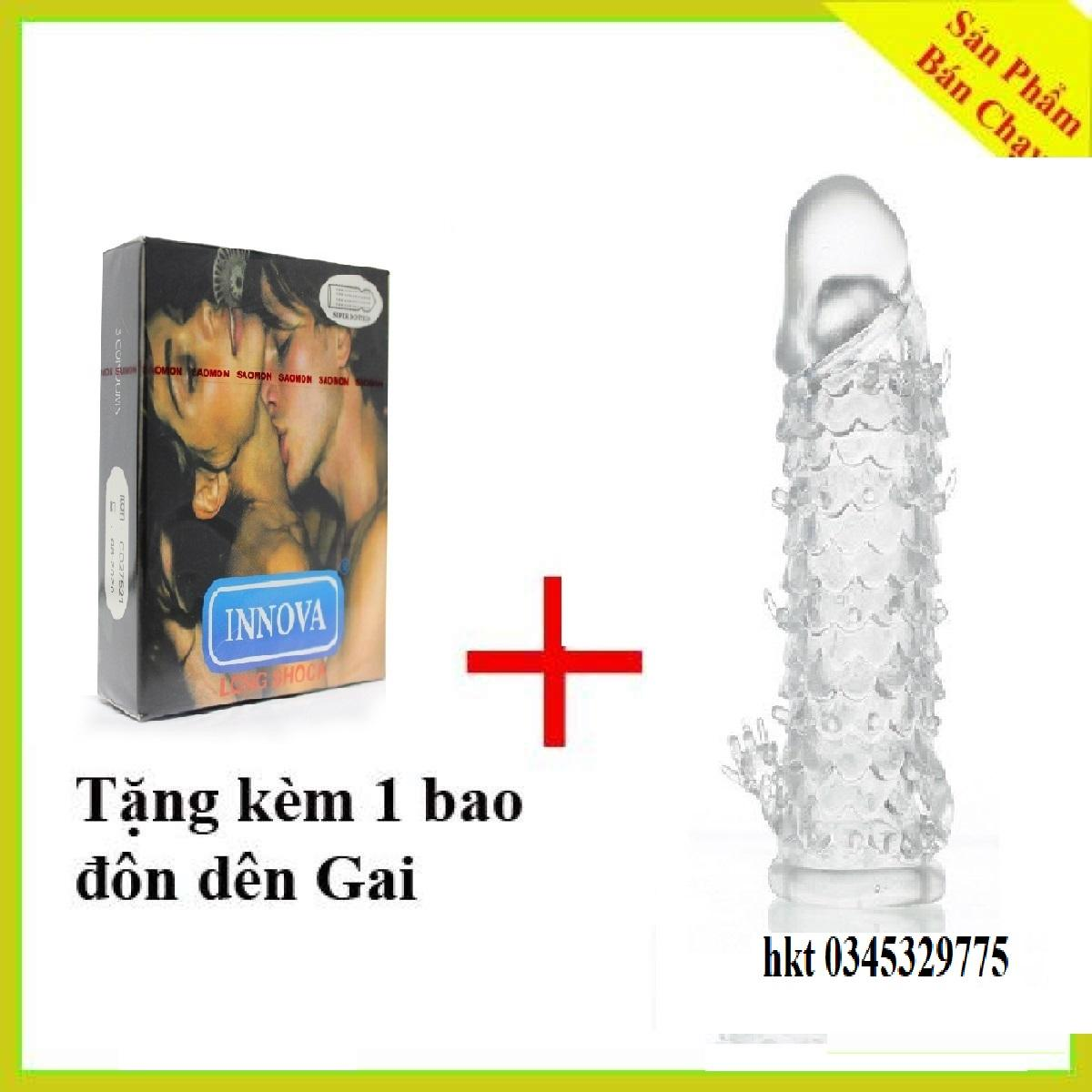 [MUA 1 Tang 1] Bao Cao Su INNOVA gân gai keo dai(3bCS) + Tang bao cao su đôn dên vẩy cá sử dụng nhiều lần