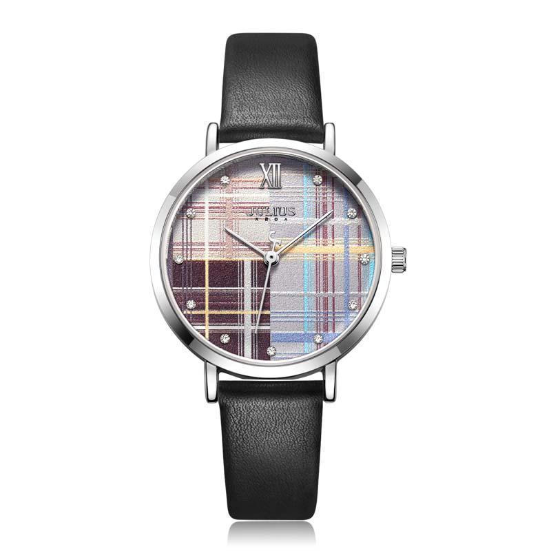 Đồng hồ nữ Julius Hàn Quốc JA-1133 dây da