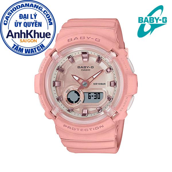Đồng hồ nữ dây nhựa Casio Baby-G chính hãng Anh Khuê BGA-280-4ADR (43mm)