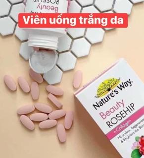 Viên uống dưỡng da Collagen và tinh dầu tầm xuân Nature s Way Beauty Rosehip & Collagen 60 viên thumbnail