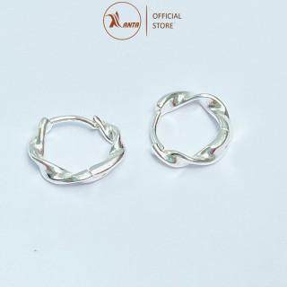 Bông tai bạc 925 vòng tròn hình xoắn thời trang thanh lịch cho nữ ANTA Jewelry - ATJ6550M thumbnail