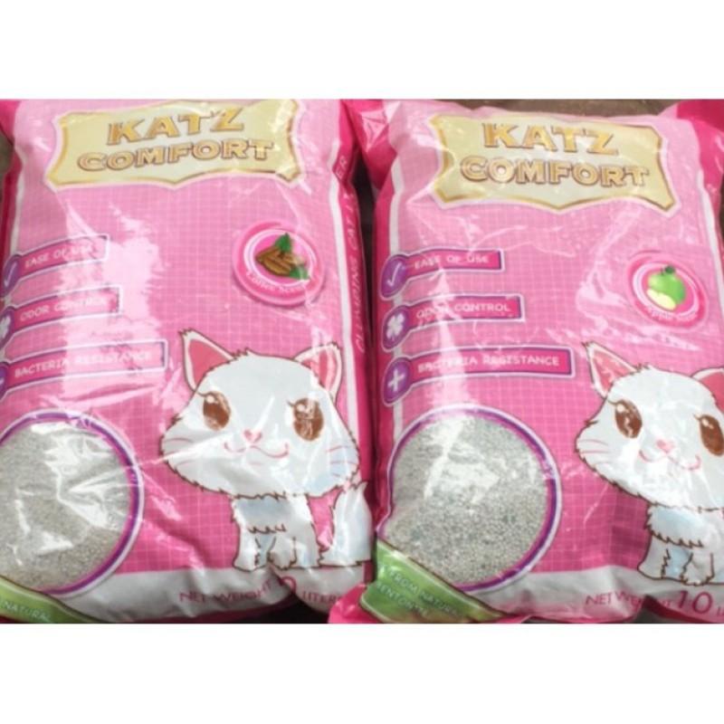 Cát vệ sinh cho mèo hương táo và cafe Katz Comfort túi 5l táo, được làm bằng nguyên liệu tự nhiên, có thể tự phân hủy, không gây hại môi trường