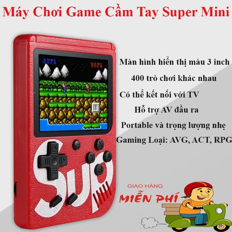 Máy Chơi Game Cầm Tay SUP MINI 400 in 1-Thiết Kế Nhỏ Gọn-Tiện Lợi Mang Theo Bất Cứ Đâu-Có Ngoại Hình Cầm Tay Khá Vừa Vặn Cho Cảm Giác Thoải Mái-Thời Lượng Pin Lên Đến 6h-Sạc Cực Dễ Dàng Thông Qua Cổng Sạc Micro USB