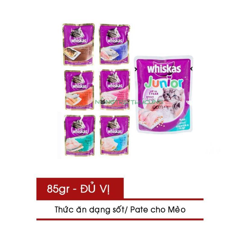 Gói Pate/ Sốt cho Mèo WhISKAS gói 85g - Nhiều vị - [Nông Trại Thú Cưng]