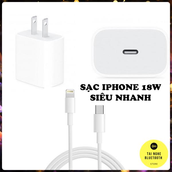 Sạc Nhanh iPhone, Bộ Sạc Nhanh iPhone 18W Công Nghệ PD Cho Điện Thoại iPhone Hàng Chuẩn Chất Lượng Tích Hợp Chip Chống Quá Tải Nhiệt An Toàn - Sạc Nhanh iPhone PD Tương Thích Tốt Với Các Dòng Điện Thoại iPhone 8 Trở Lên Và iPad