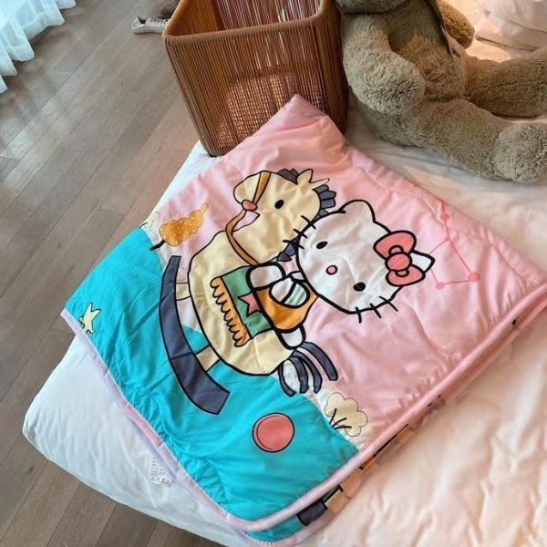 Mền chăn đũi hè thu cho bé, chăn đũi Cotton trần bông hoạt hình 110x150cm mềm mịn cao cấp cho bé