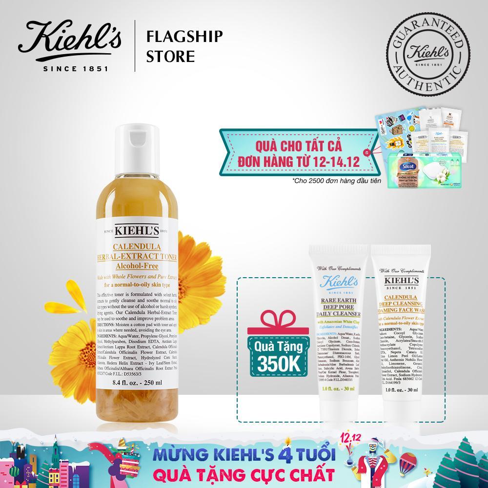 Offer Ưu Đãi [Ưu đãi 12.12] Nước Cân Bằng Hoa Cúc Kiehl's Calendula Herbal Extract Alcohol-Free Toner 250ML
